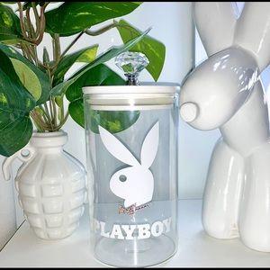 Playboy bling jar decor storage